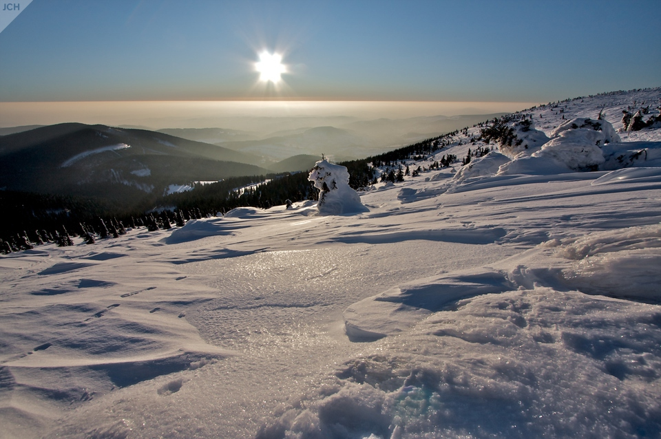Sedlo azápad slunce