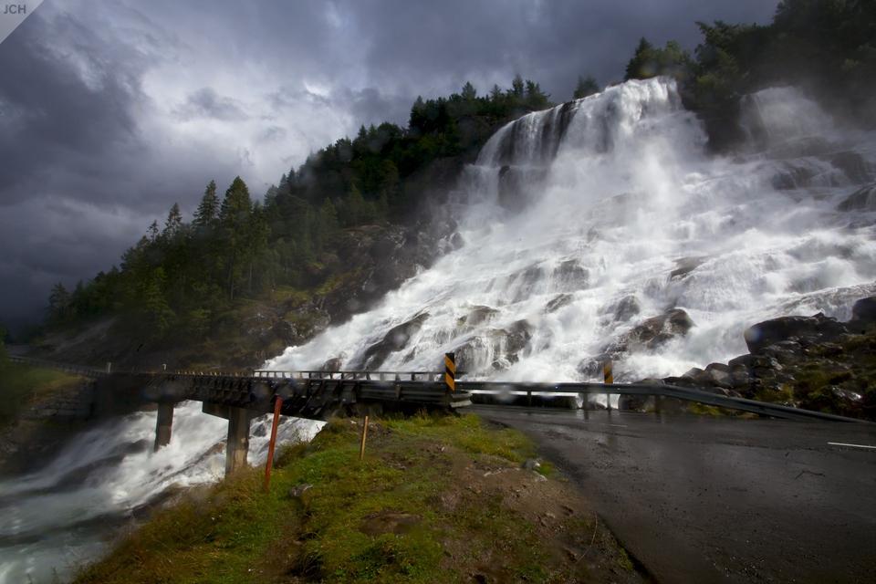 Vodopád usilnice na sever