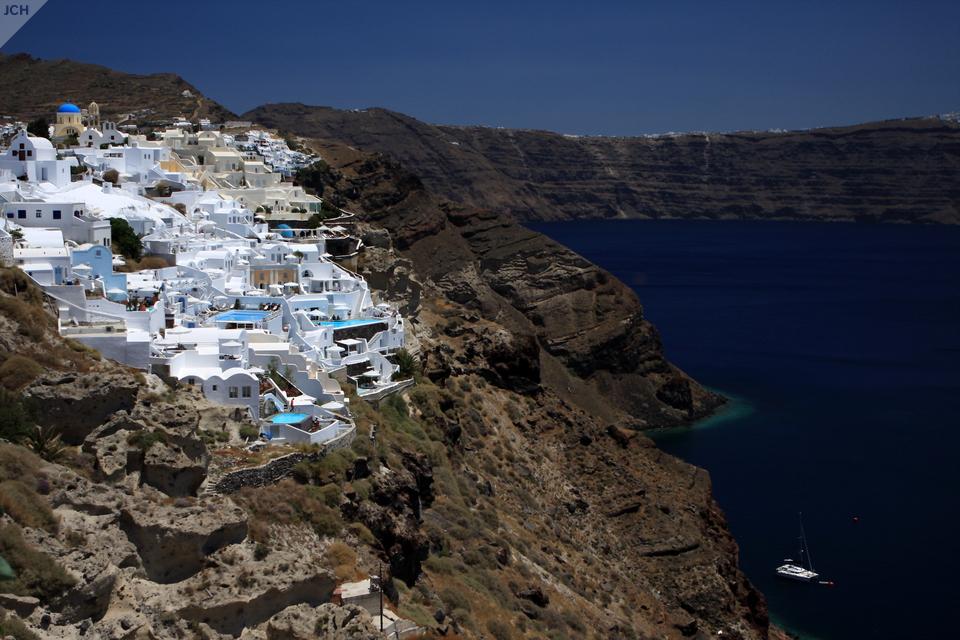 Kontrasty na Santorini