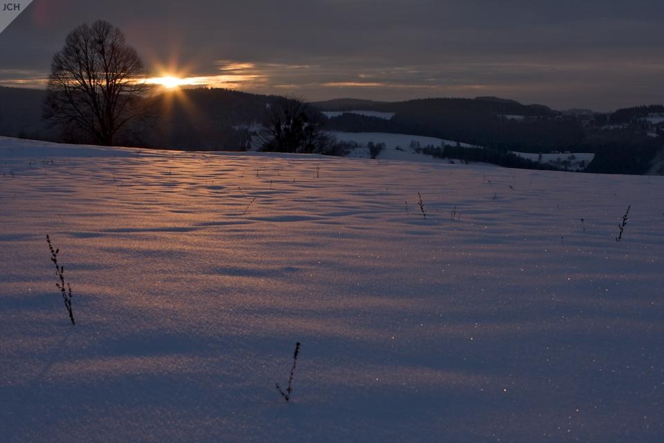 Západ slunce na Valašsku