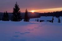 Západ slunce uFilipovy Huti